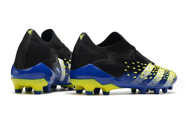 New Adidas Predator Freak.1 Low AG Blue/Core Black/White/Yellow