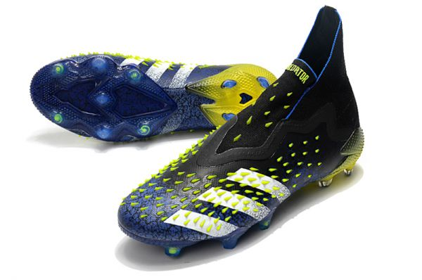 New Adidas Predator Freak FG Blue/Core Black/White/Yellow