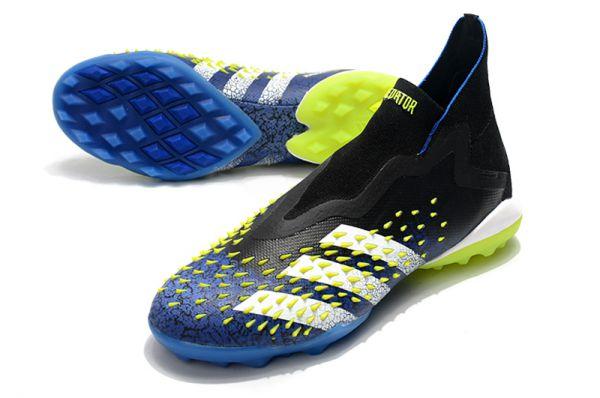 New Adidas Predator Freak TF Blue/Black/White/Solar Yellow