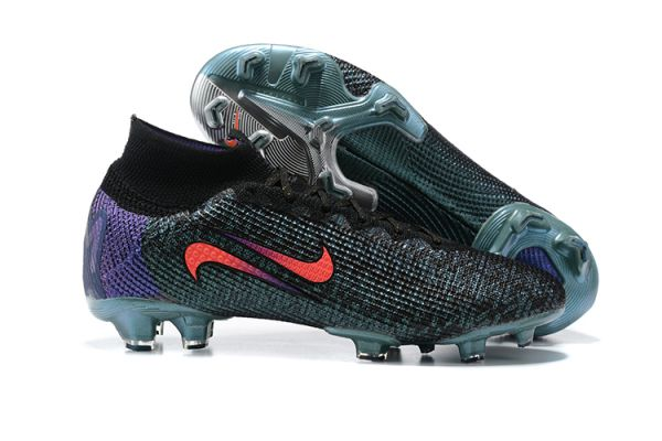New Nike Mercurial Superfly 7 Elite FG Black/Fierce Purple/Metallic Silver/Crimson