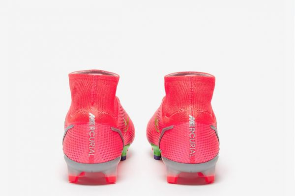 New Nike Mercurial Superfly VIII Elite FG - Bright Crimson/Metallic Silver