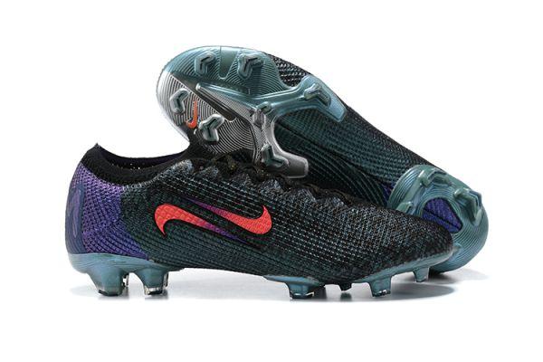 New Nike Mercurial Vapor 13 Elite SE FG Black/Fierce Purple/Metallic Silver