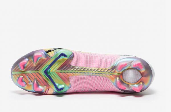 New Nike Mercurial Vapor Dragonfly 14 Elite FG - White/Metallic Silver/Dark Raisin